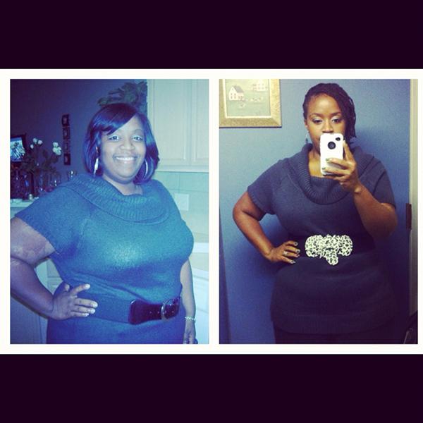 Shanta before and after