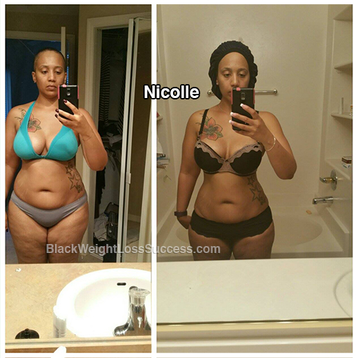 nicolle before and after