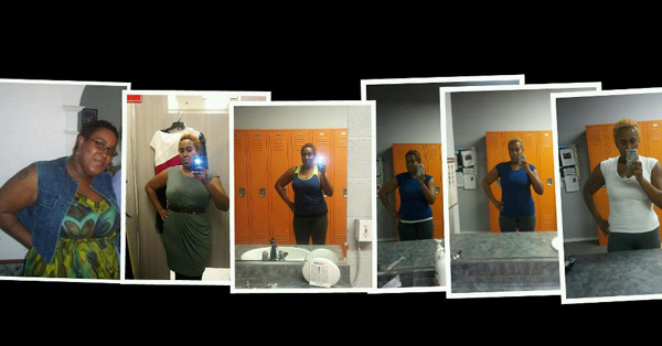 Rosie weight loss collage
