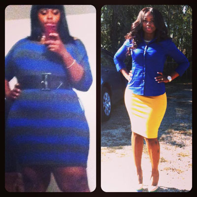 Donesha lost 59 pounds