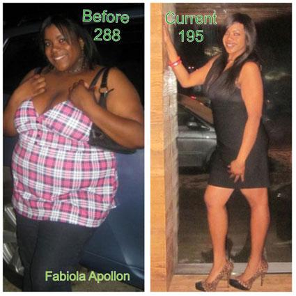 Fabiola weight loss