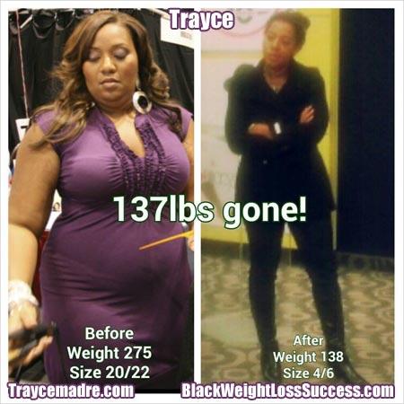 Trayce weight loss story