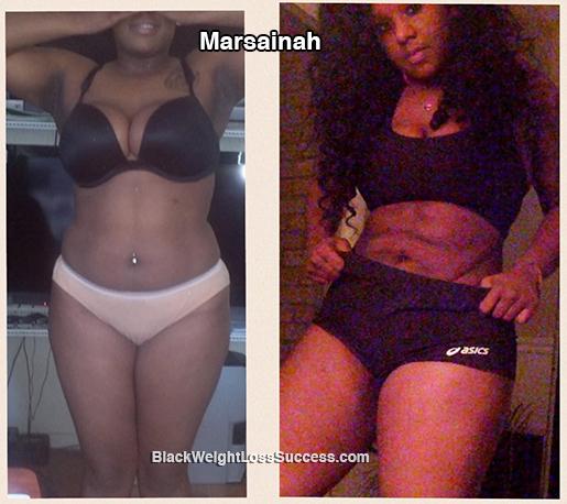 Marsainah before and after
