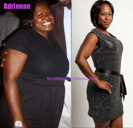 Adrienne before and after weight loss