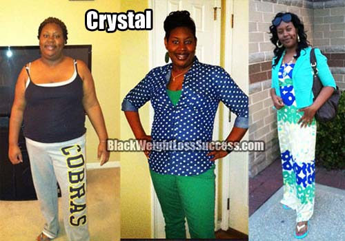 Crystal before and after