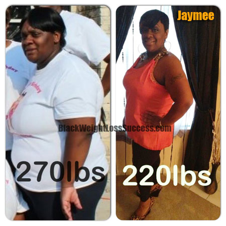 Jaymee Lost 50 Pounds Black Weight Loss Success