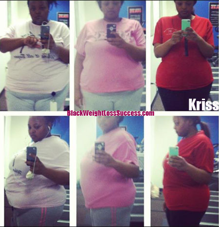 Kriss before and after weight loss