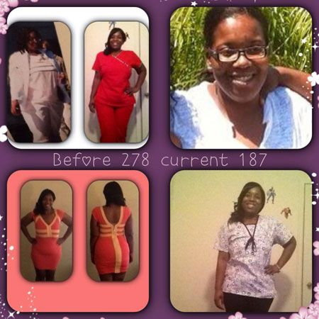 Monica before and after weight loss