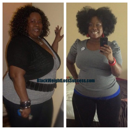 weight loss before and after Tinesha