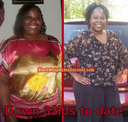 Yvette before and after weight loss