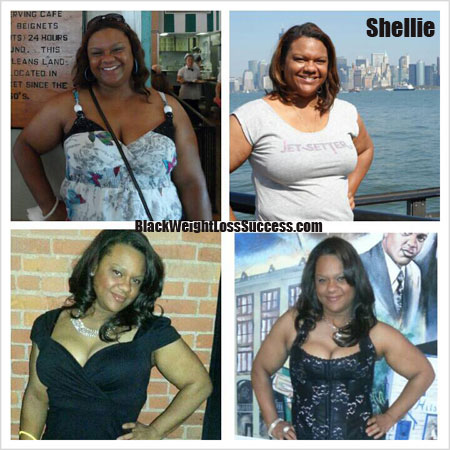 Shellie before and after weight loss