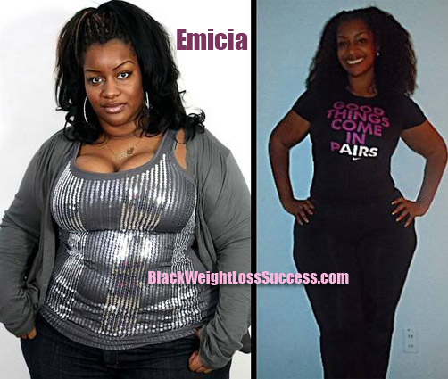 Emicia weight loss before and after