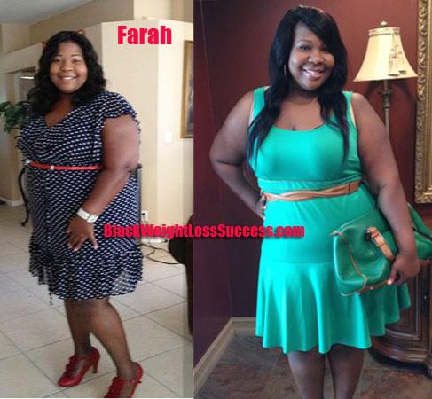 Farah lost 75 pounds