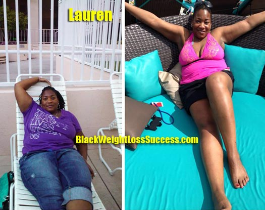 Lauren weight loss before and after
