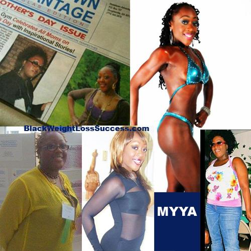 Myya weight loss transformation