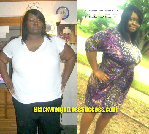 Nicey weight loss before and after