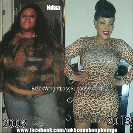 Nikia weight loss before and after