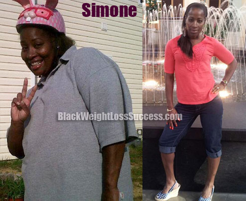 Simone weight loss before and after