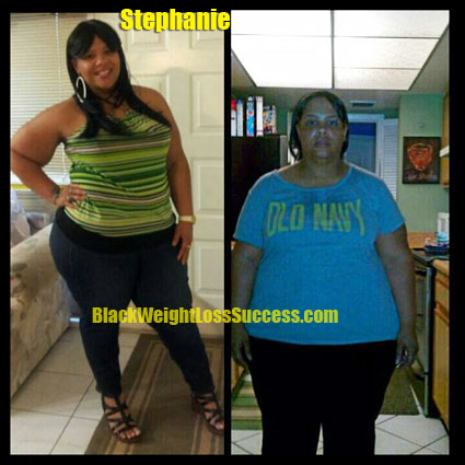 Stephanie weight loss before and after