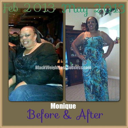 monique before and after weight loss