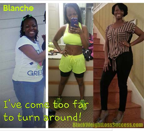 Blanche lost 48 pounds