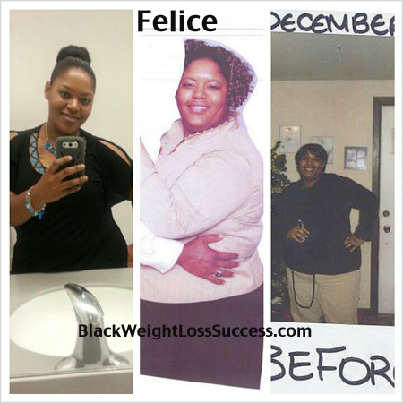 Felice weight loss before and after