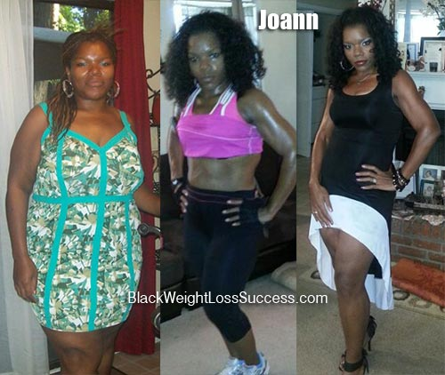 Joann weight loss before and after