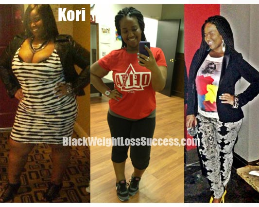 Kori weight loss before and after