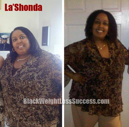 LaShonda weight loss before and after