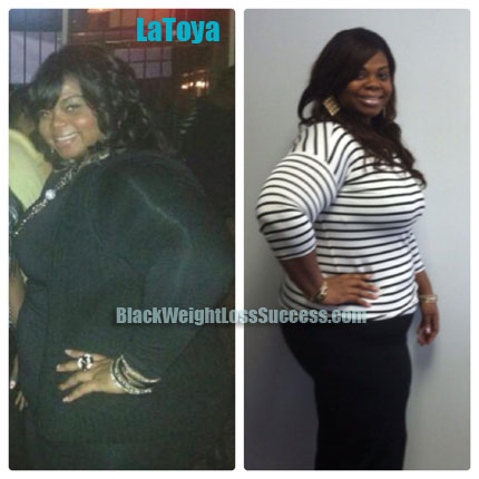 Latoya weight loss before and after