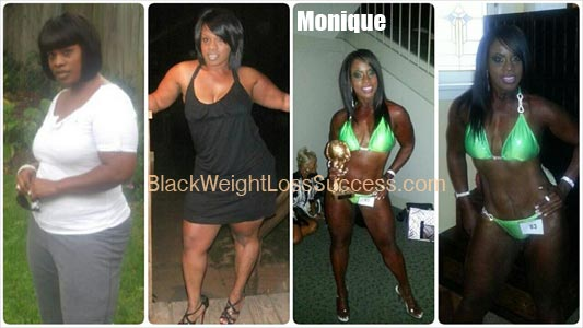 Monique weight loss before and after