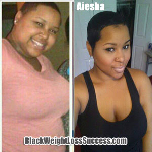 Aiesha weight loss journey