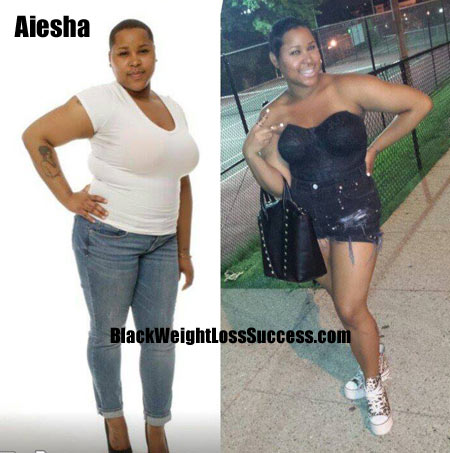 Aiesha weight loss before and after
