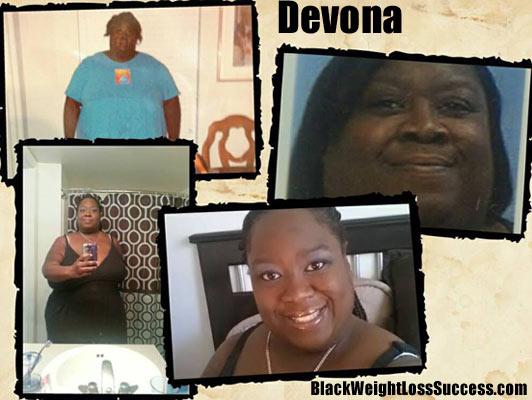 Devona lost 300 pounds