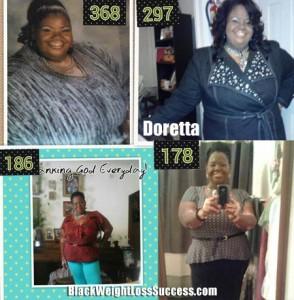 Doretta weight loss story