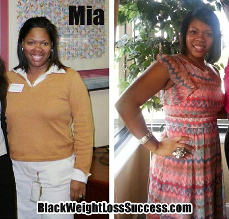 Mia weight loss low carb
