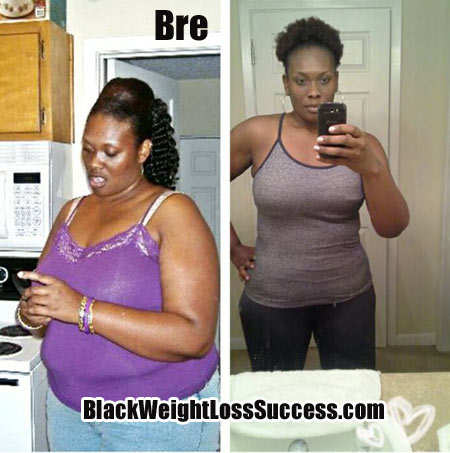 Bre lost 45 pounds | Black Weight Loss Success