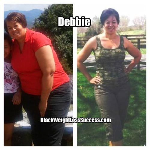 Debbie before and after