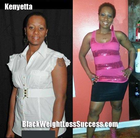 Kenyetta weight loss photos