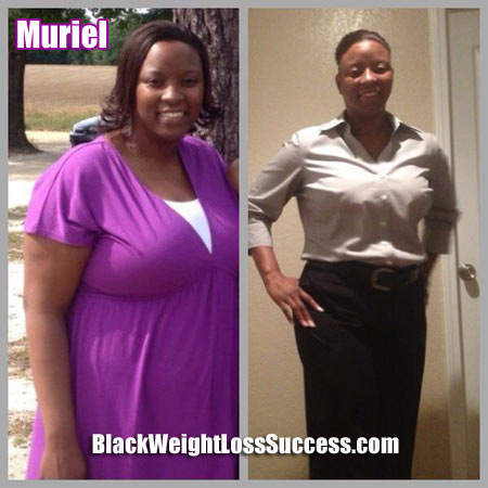 Muriel weight loss photos