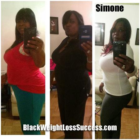 Simone 55 pound weight loss