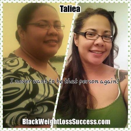 Taliea weight loss story