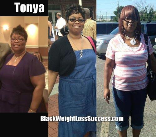 Tonya 100 pounds weight loss