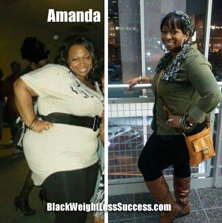 Amanda weight loss photos