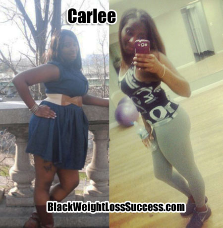 Carlee weight loss photos
