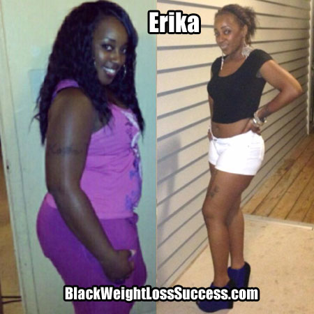 Erika weight loss before and after