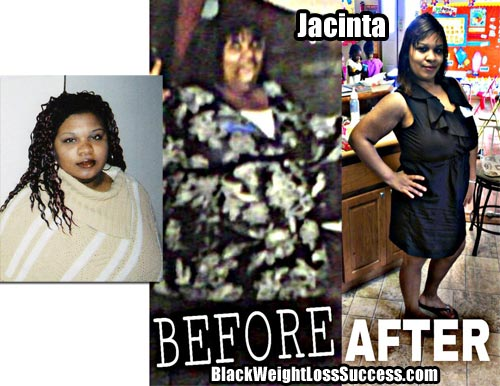Jacinta weight loss success