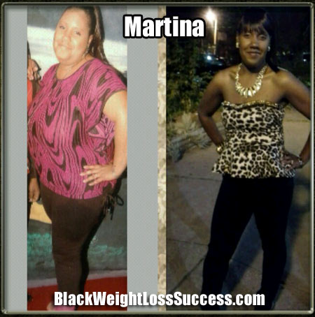 Martina before and after weight loss