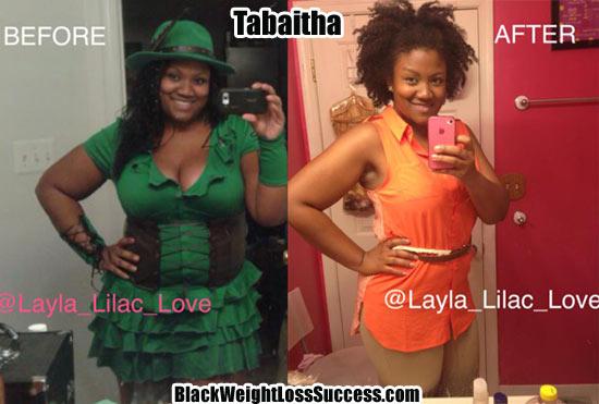 Tabaitha weight loss photos