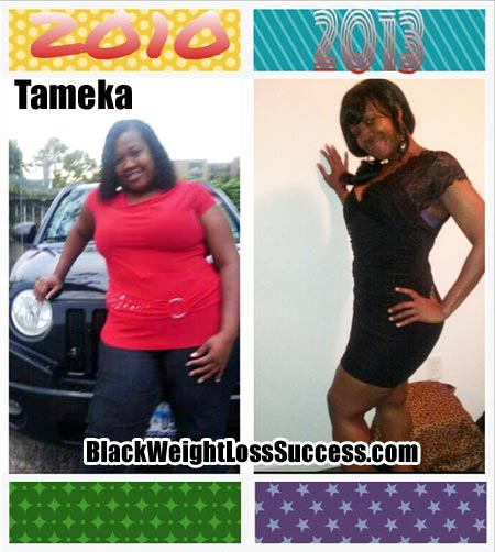 Tameka weight loss photos
